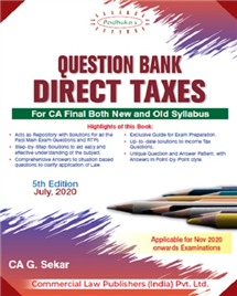 Question Bank on Direct Taxes Including MCQs