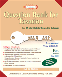 Question Bank for Taxation