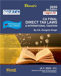 Capsule Studies on DIRECT TAX LAWS & International Taxation (A.Y. 2020-21)