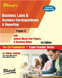 Business Laws & Business Correspondence & Reporting (For CA Foundation)