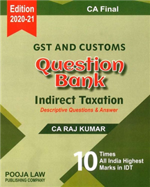 GST and Customs Question Bank Indirect Taxation