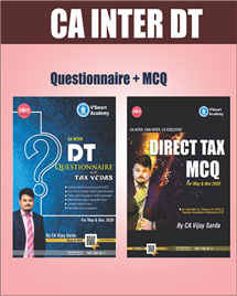 Direct Taxes Questionnaire + MCQ + Charts Study Materials