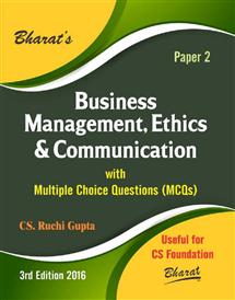 Business Management, Ethics & Communication for CS Foundation