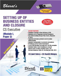 Setting Up of Business Entities and Closure